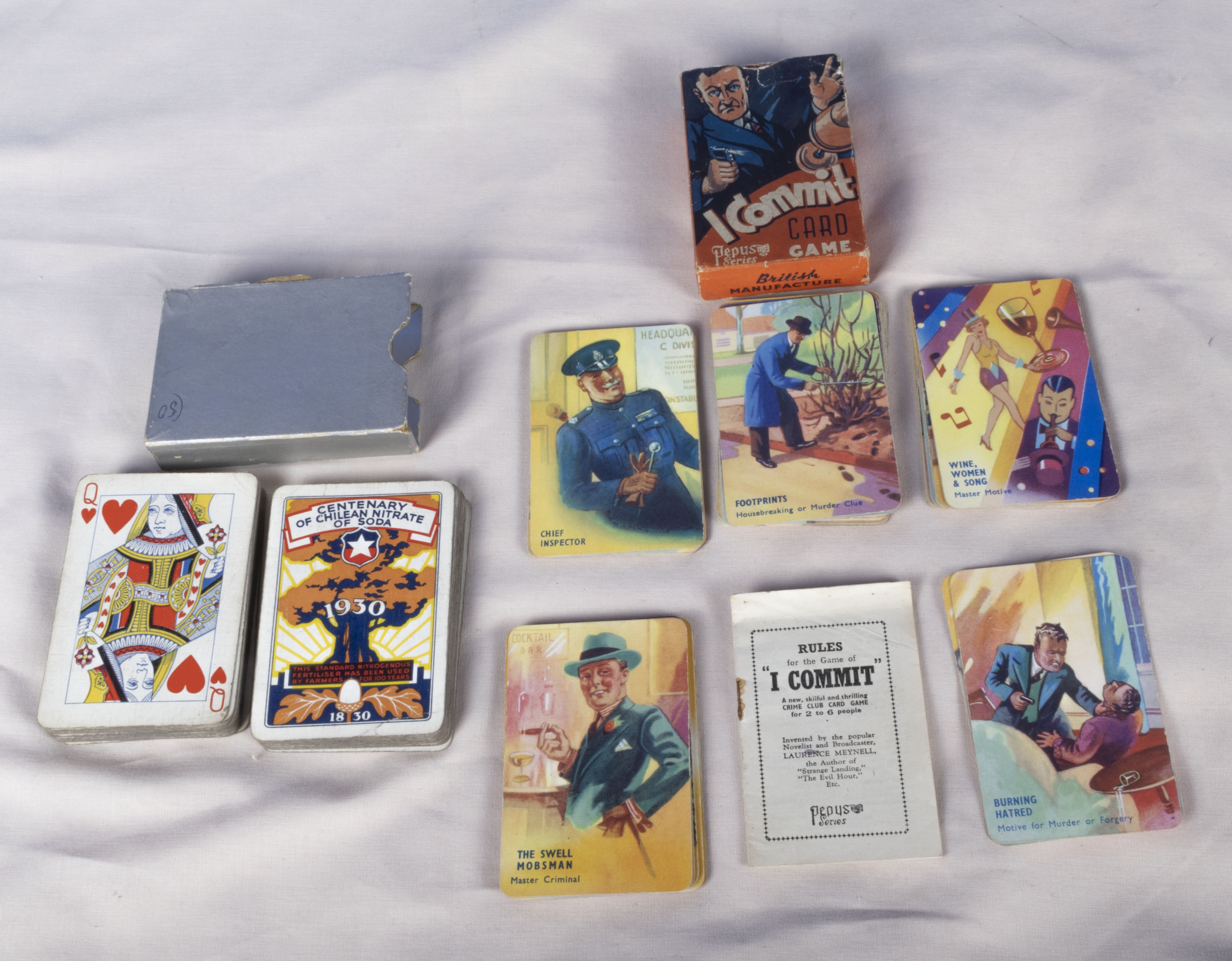 Set 49 vintage comical playing cards various characters, Master Mug the Milkmans son/Mrs Bun the
