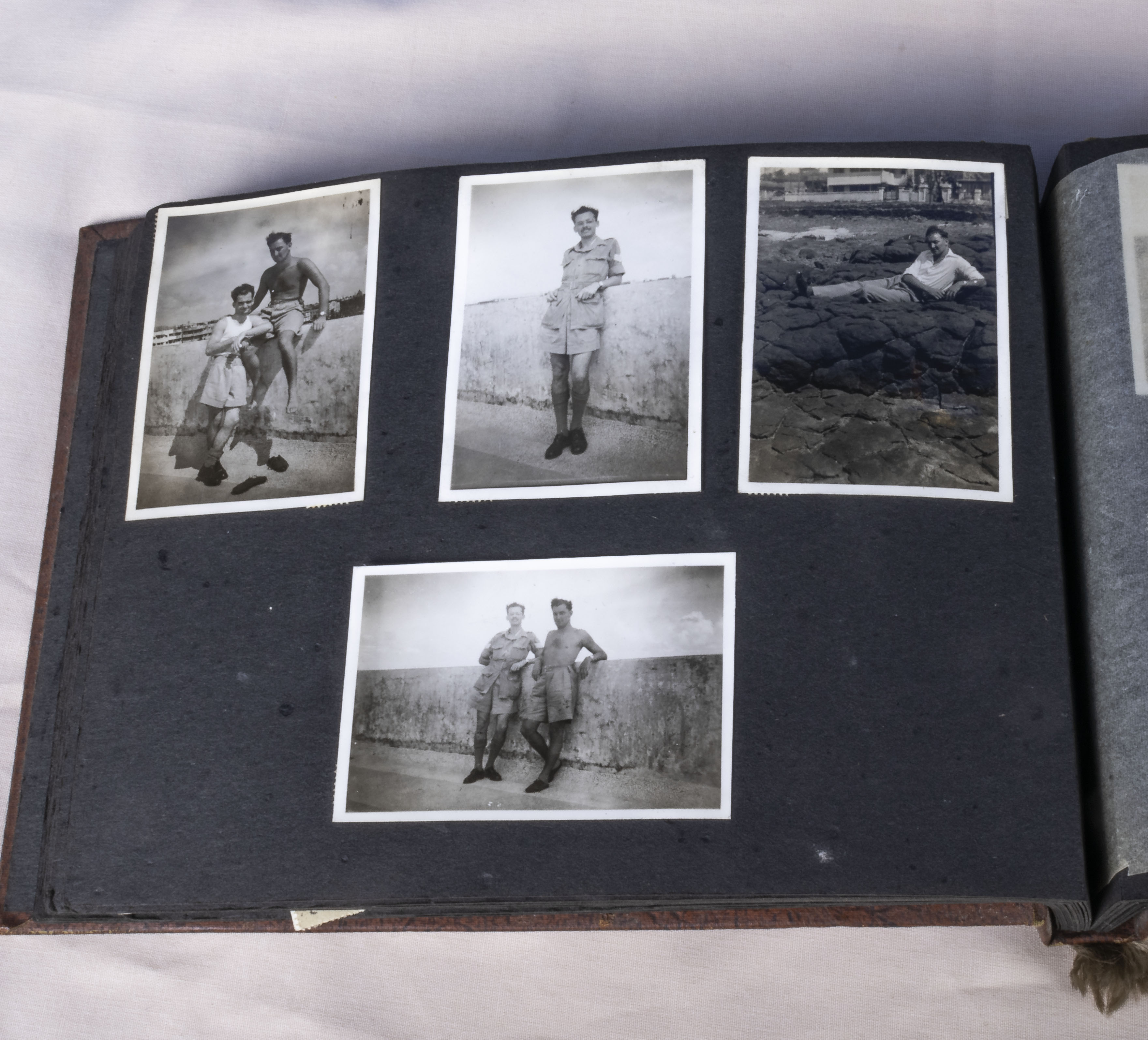 Military interest over 130 vintage photographs in album relating to the 1939-45 war years showing - Image 2 of 6