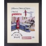 Framed 'Formica' advertisement circa 1950's style