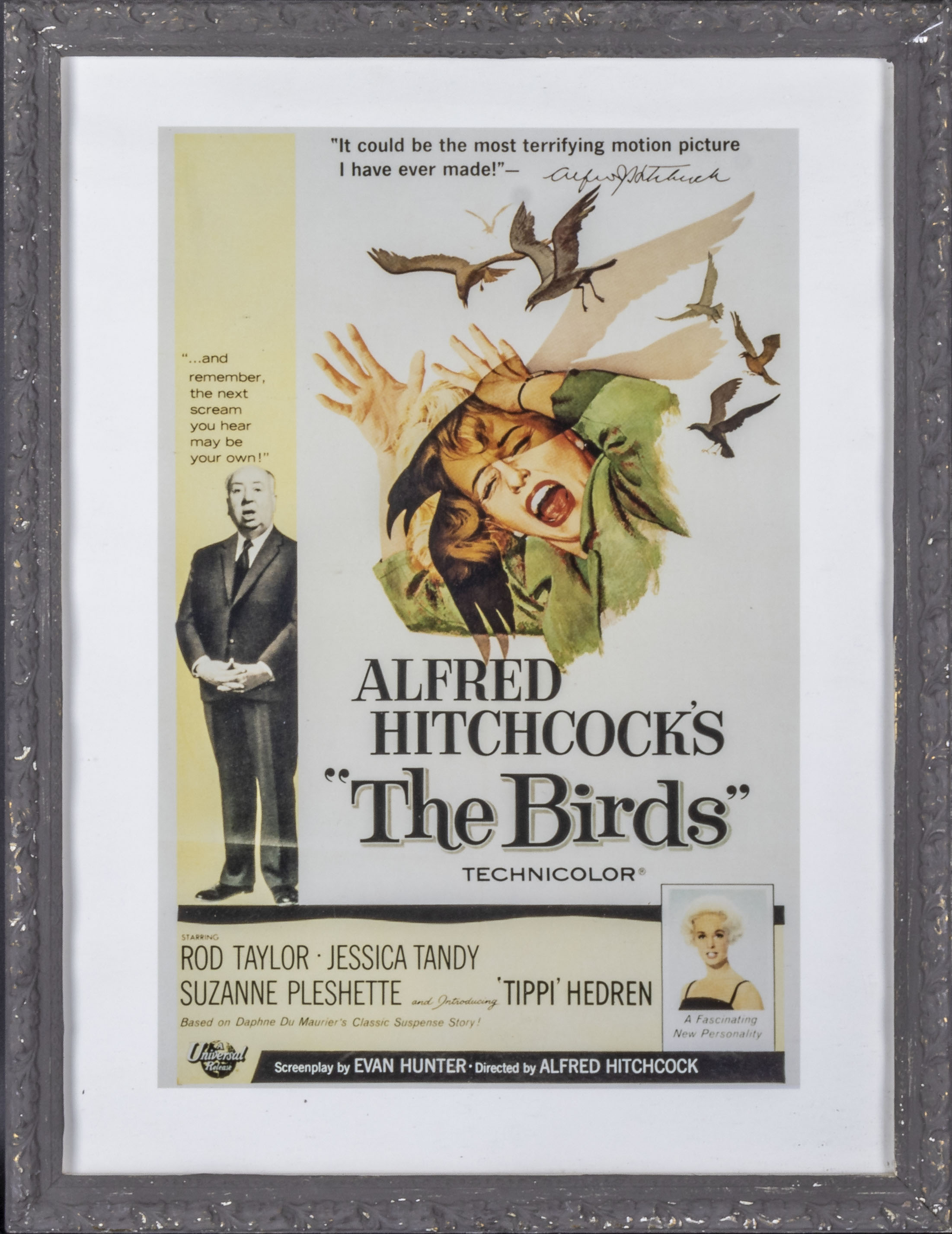Tw framed advertising prints 'Casablanca' 38cm x 45cm and 'The Birds' 34cm x 44cm - Image 3 of 3
