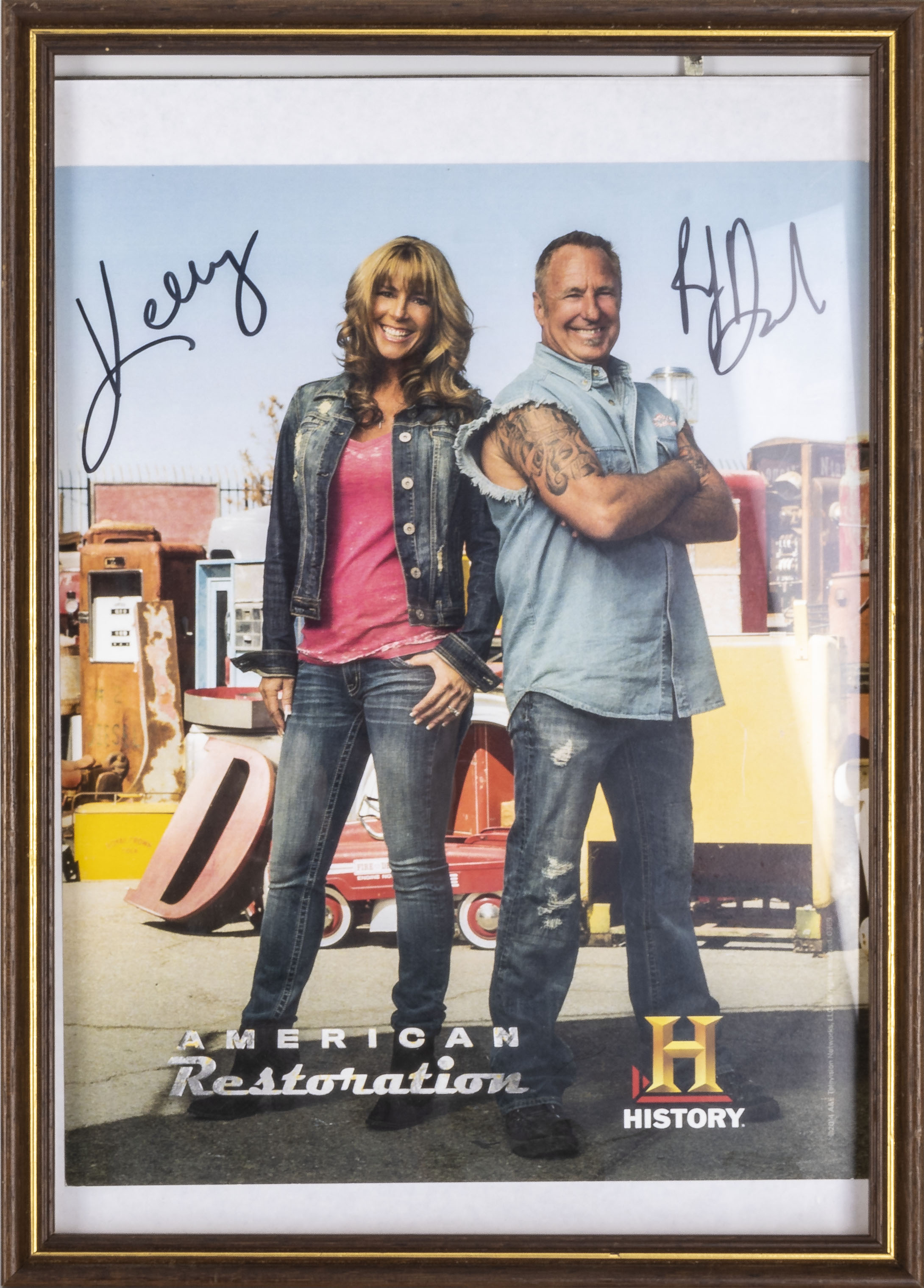 Two framed autographed photographs, Happy Days and American Restoration together with American - Image 3 of 4
