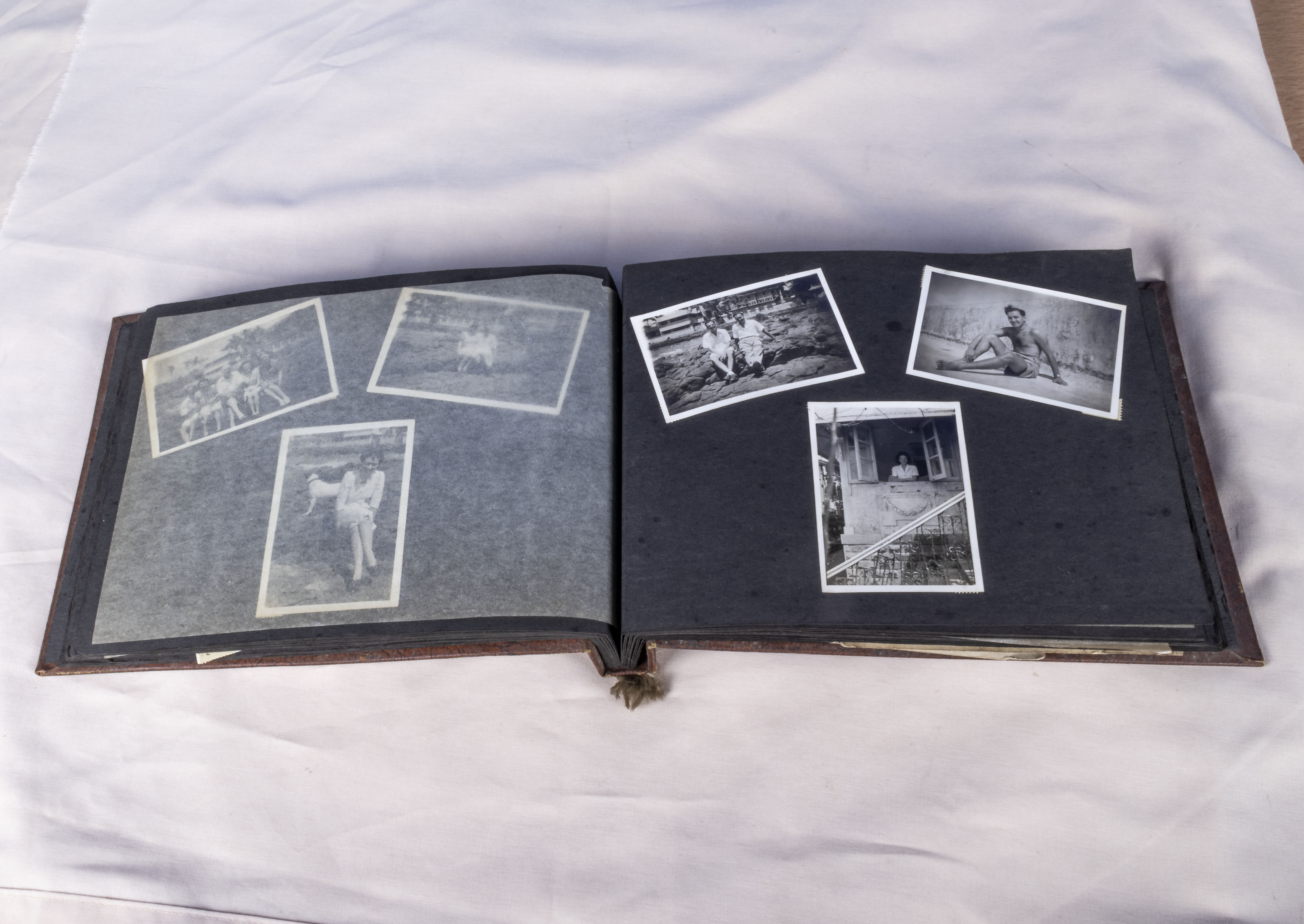Military interest over 130 vintage photographs in album relating to the 1939-45 war years showing