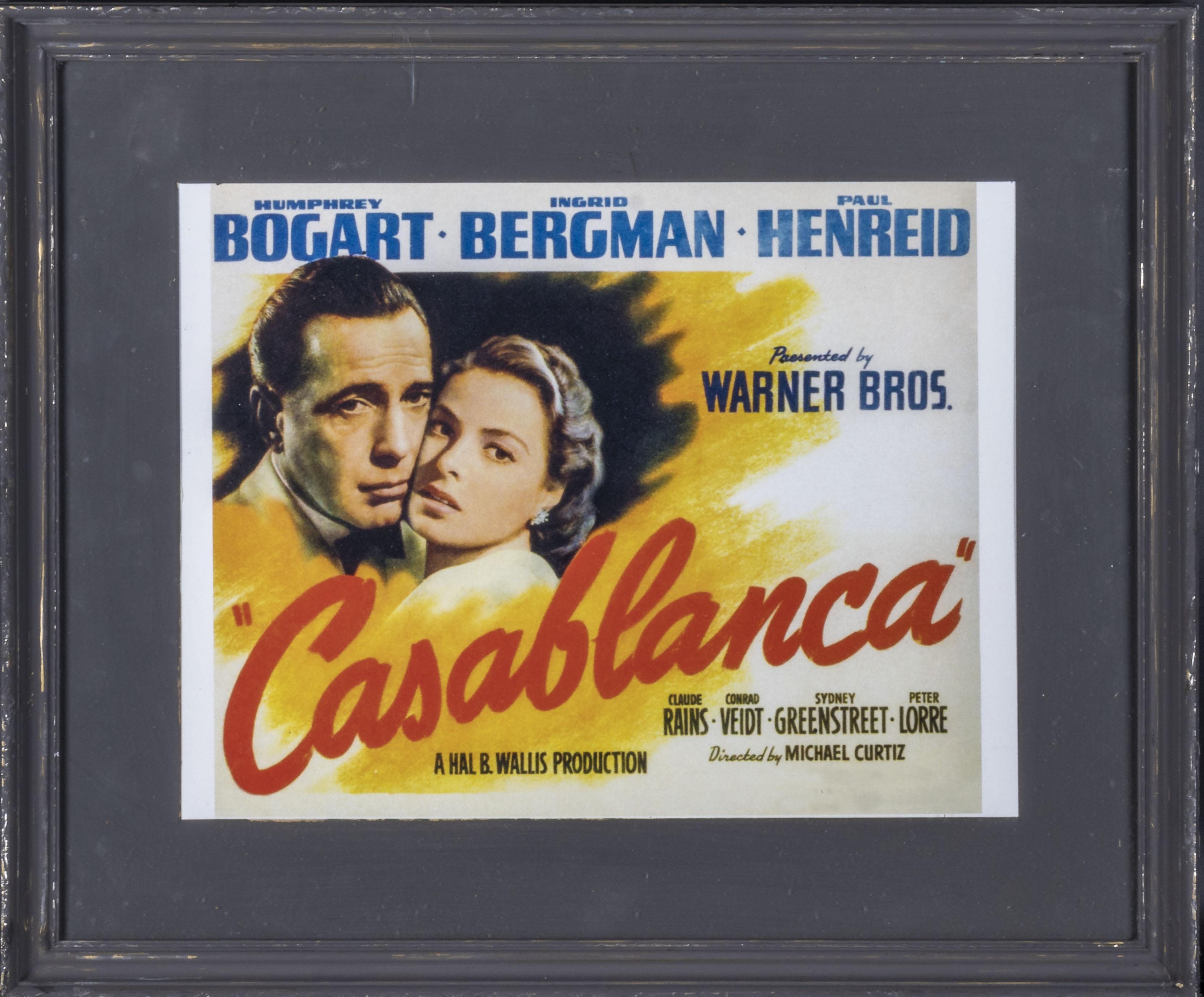 Tw framed advertising prints 'Casablanca' 38cm x 45cm and 'The Birds' 34cm x 44cm - Image 2 of 3