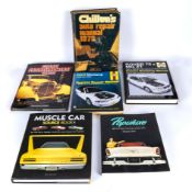 Six books relating to motor cars