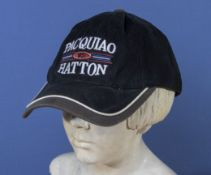 Boxing collectors interest original Pacquiao vs Hatton fight cap, billed as the battle of East and