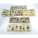Six cigarette vintage card albums issued by WD & HO Wills and John Player and Sons, international