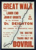 A large framed Bovril advertising print of The Great Walk 46cm x 63cm