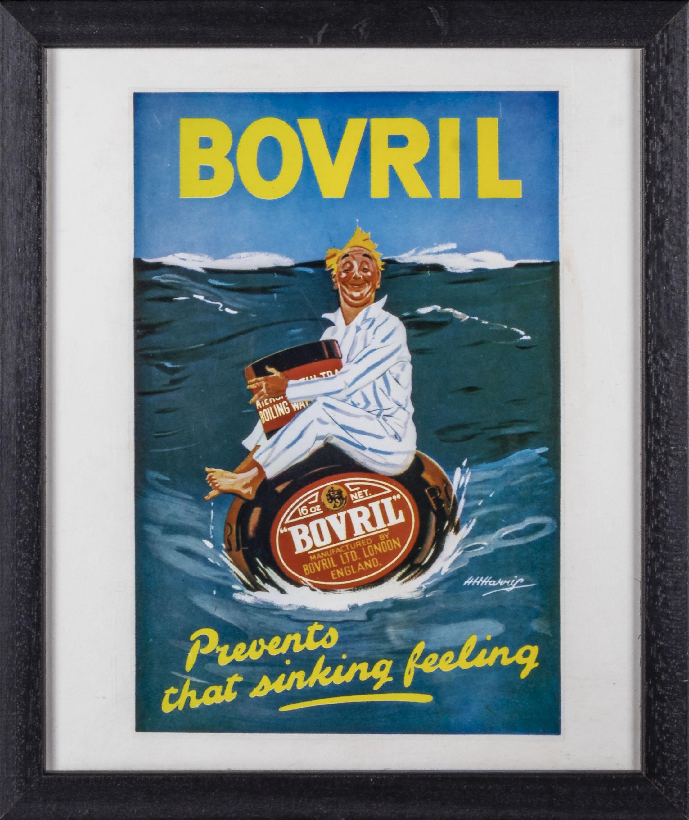 Three framed Bovril advertising prints 28cm x 33cm - Image 3 of 4