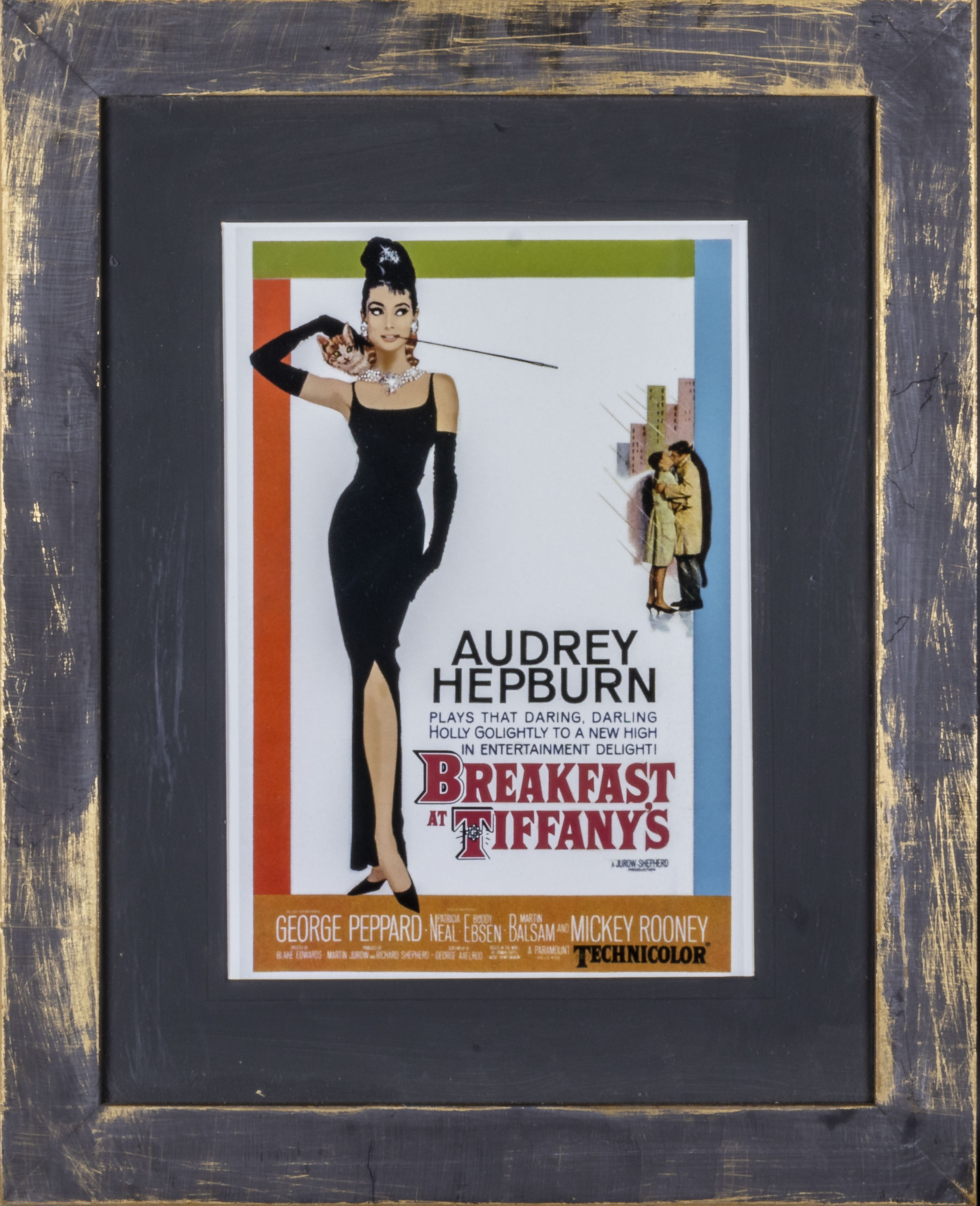 Two framed advertising prints Breakfast at Tiffany's and The Wizard of Oz, both 43cm x 54cm - Image 2 of 3