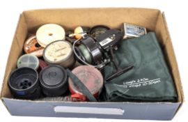 A small box of miscellaneous fishing tackle
