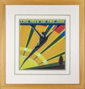 Framed 'Art Deco' style poster