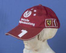 Formula One original racing red Ferrari Michael Schumacher cap, official licensed product Deutsche