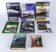 Eight books relating to railway