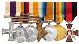 Boer War, WW1 Imperial Yeomanry Middlesex Regiment Military Cross, Imperial Russian Order of St.Vlad