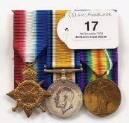 WW1 Essex Regiment Gallipoli Veteran Group of Three Medals.