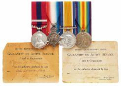 WW1 1/4th Bn Seaforth Highlanders Distinguished Conduct Medal & Bar.