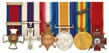 West Yorkshire Regiment WW1 / North Russia Expedition DSO, MC Russian Order of St.Anne Group of Six