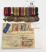 Miniature Medals of Brigadier Norman Vause Sadler OBE DCM., TD