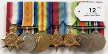 Royal Navy WW1 / WW2 Officer's Group of 7 Medals.