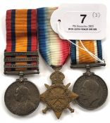 Boer War 2nd Brabant's Horse Queen's South Africa Medal Group of Three.