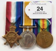 WW1 1st South African Infantry Group of Three Medals.