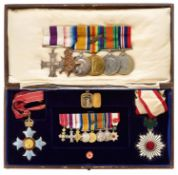 WW1 Gordon Highlanders / Royal Air Force CBE, MC, Order of the Rising Sun Group of Eight Medals.