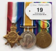 WW1 Durham Light Infantry Group of Three Medals.