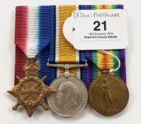 WW1 1/5th (Bury) Bn Lancashire Fusiliers Gallipoli Veteran Group of Three Medals.