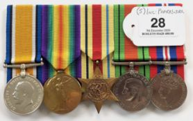 WW1 / WW2 Army Cyclist Corps Group of Five Medals.