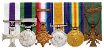 WW1 Cameronians Scottish Rifles Battle of Doiran Military Cross Group of Six Medals.