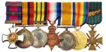 WW1 Royal Navy DSO & Bar Triple Gallantry Group of Seven Medals.
