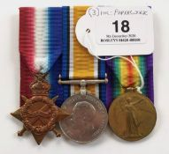 WW1 6th Bn London Regiment Group of Three Medals.