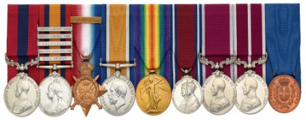 WW1 2nd BN Gordon Highlanders DCM, MSM Italian Al Valore Group of Nine Medals.