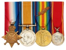 WW1 Army Ordnance Corps Russian Order of Zeal Group of Four Medals.