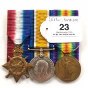 WW1 Royal West Kent Regiment Group of Three Medals.