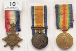 WW1 Gordon Highlanders / Cypher Officeer's Group of Three Medals.