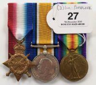 WW1 8th Bn Suffolk Regiment Group of Three Medals.