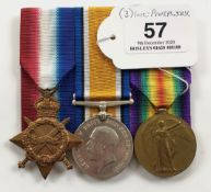 WW1 York & Lancs Regiment Group of Three Medals.