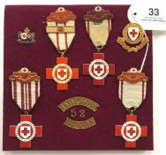 British Red Cross Society Selection of Medals and Badges.