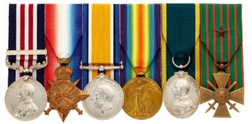 WW1 9th Bn Durham Light Infantry Triple Gallantry Military Medal & Bar, Croix de Guerre Group of Six