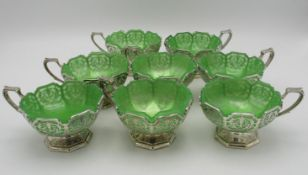 A set of eight George V silver dessert coupes by Mappin & Webb, Sheffield 1932, each designed with