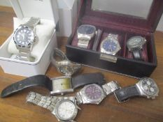 Mixed gents wristwatches to include a Seiko Perpetual Calendar, Pulsar, Accurist and others