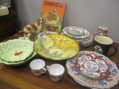 A mixed lot to include Coalport Indian tree patter china, Carton ware, cabbage plates, Guinness