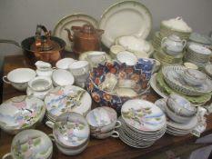 Ceramics and metalware to include a Royal Doulton Tivoli part dinner service, a Japanese tea set,