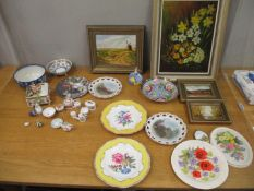 A mixed lot to include 19th century and later ceramics, modern miniature china, Spode cup and