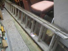 A large aluminium ladder