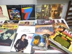 1970s and 1980s records and singles to include David Bowie Space Oddity, Blondie, Wham, Michael