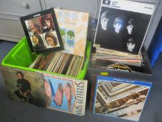 Mixed records to include The Beatles, Gloria Gaynor, Billy Connolly and others