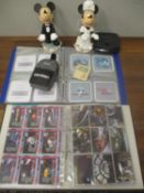 A mixed lot to include an album of Aircraft Nose Art coasters, album of Star Wars cards, a Kool
