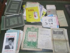 A selection of theatre and concert programmes from the 1907 ranging to the 1950s, together with